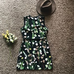 NWOT Victoria Beckham Floral Fit & Flare Dress
